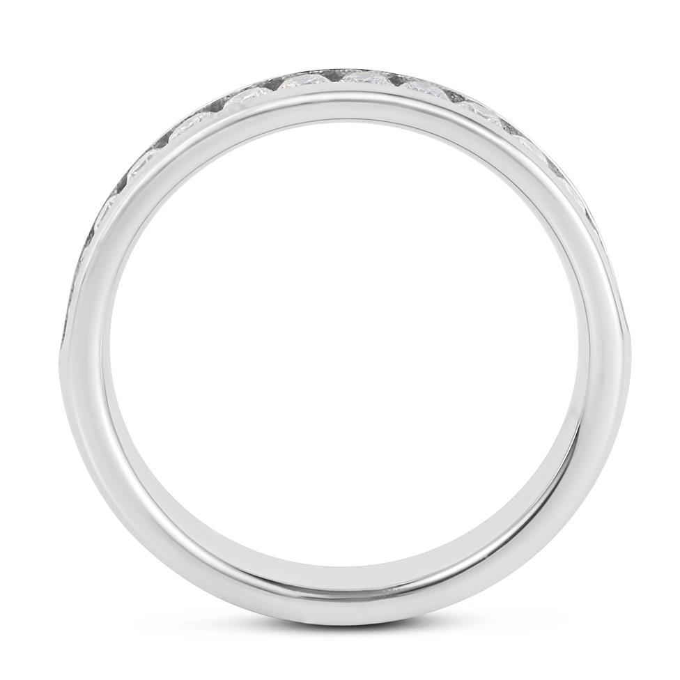 Platinum Diamond Half Eternity Ring 0.45ct Thumbnail Image 2
