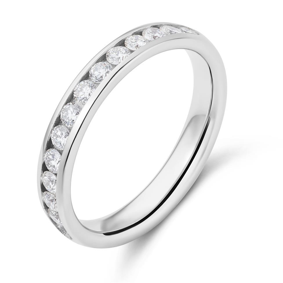 Platinum Diamond Half Eternity Ring 0.45ct Thumbnail Image 0