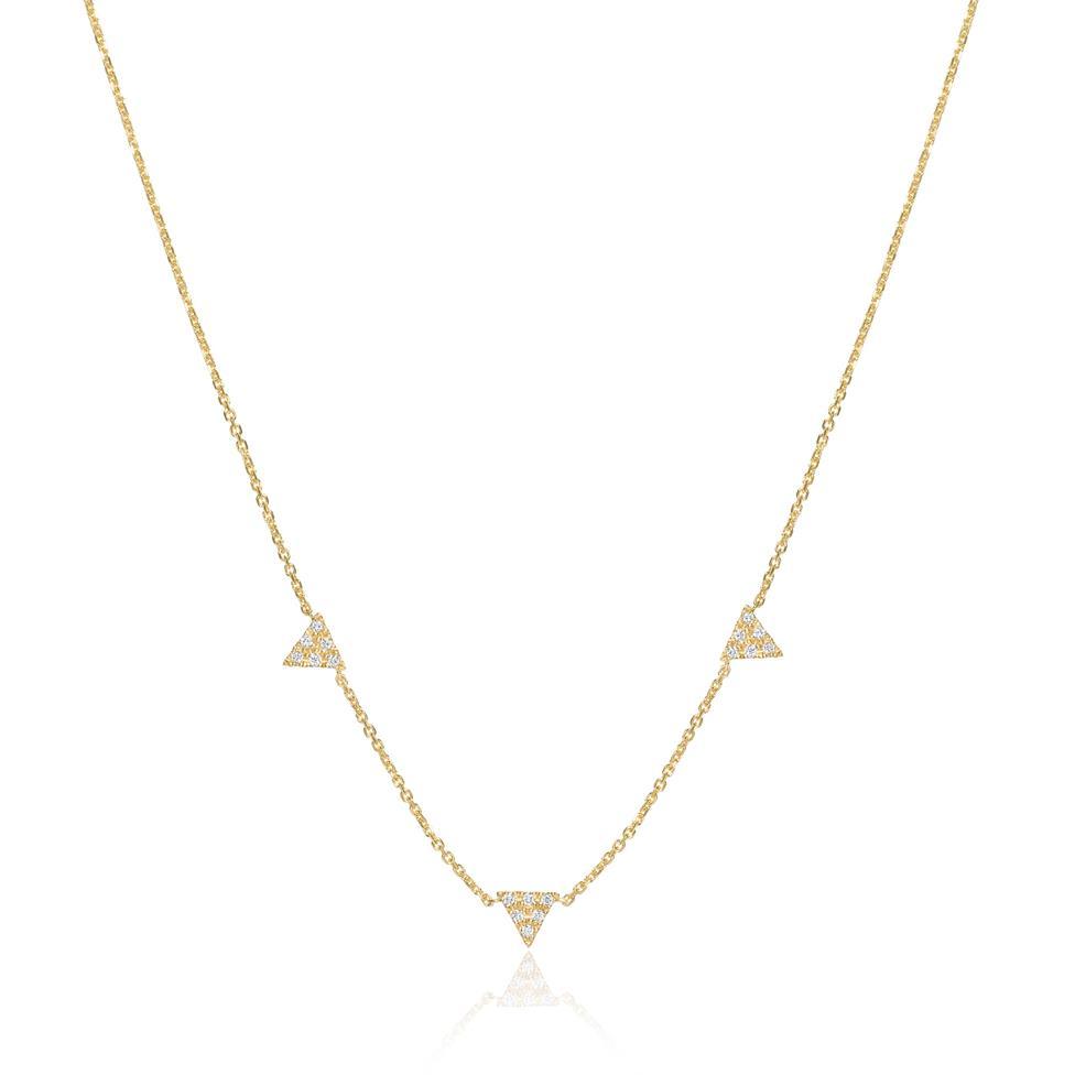18ct Yellow Gold Diamond Necklace Thumbnail Image 0