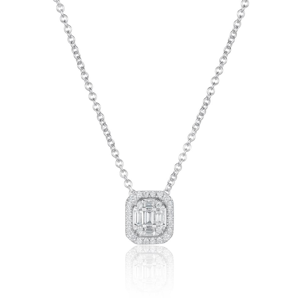 Odyssey 18ct White Gold Diamond Necklace 0.20ct Thumbnail Image 0