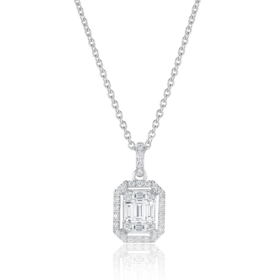 Odyssey 18ct White Gold Diamond Necklace 0.48ct Thumbnail Image 0