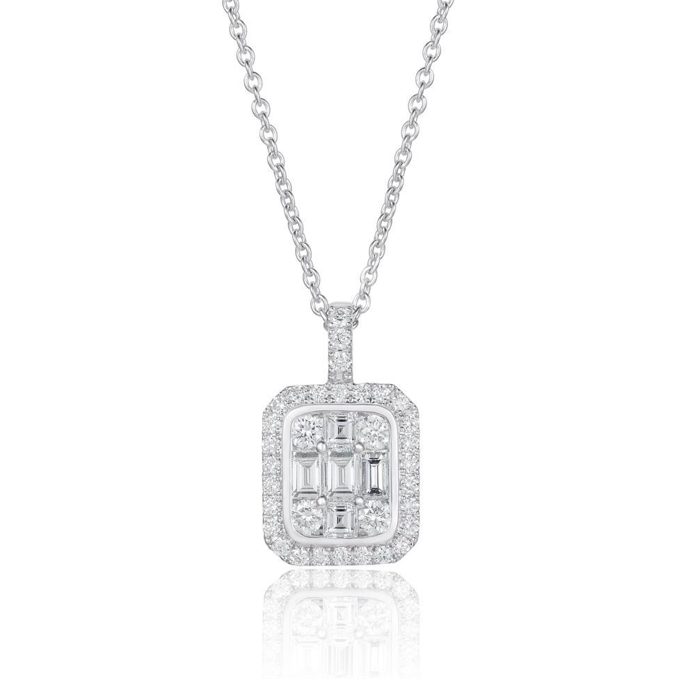 Odyssey 18ct White Gold Diamond Pendant 1.20ct Thumbnail Image 0