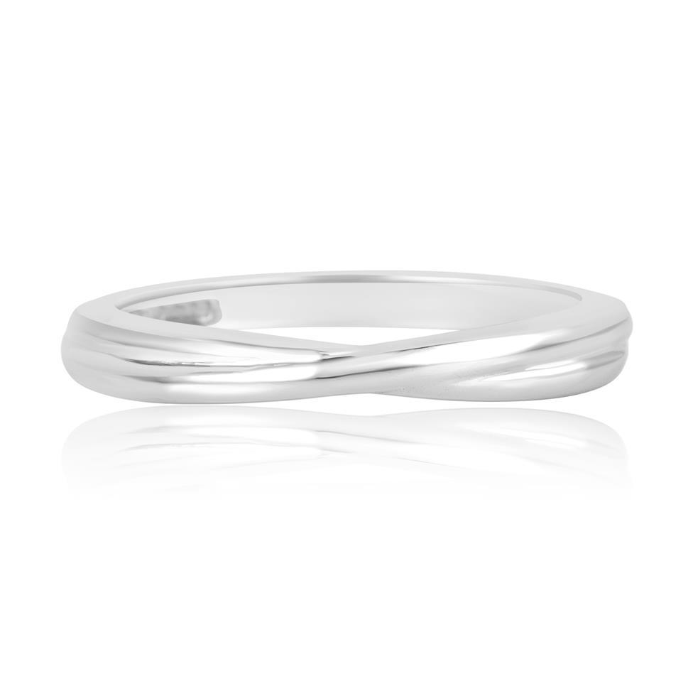 Platinum Twist Design Wedding Ring Thumbnail Image 2