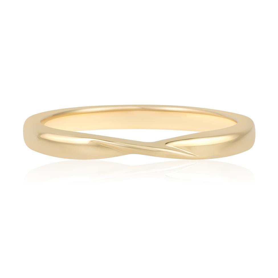 18ct Yellow Gold Twist Design Wedding Ring Thumbnail Image 2