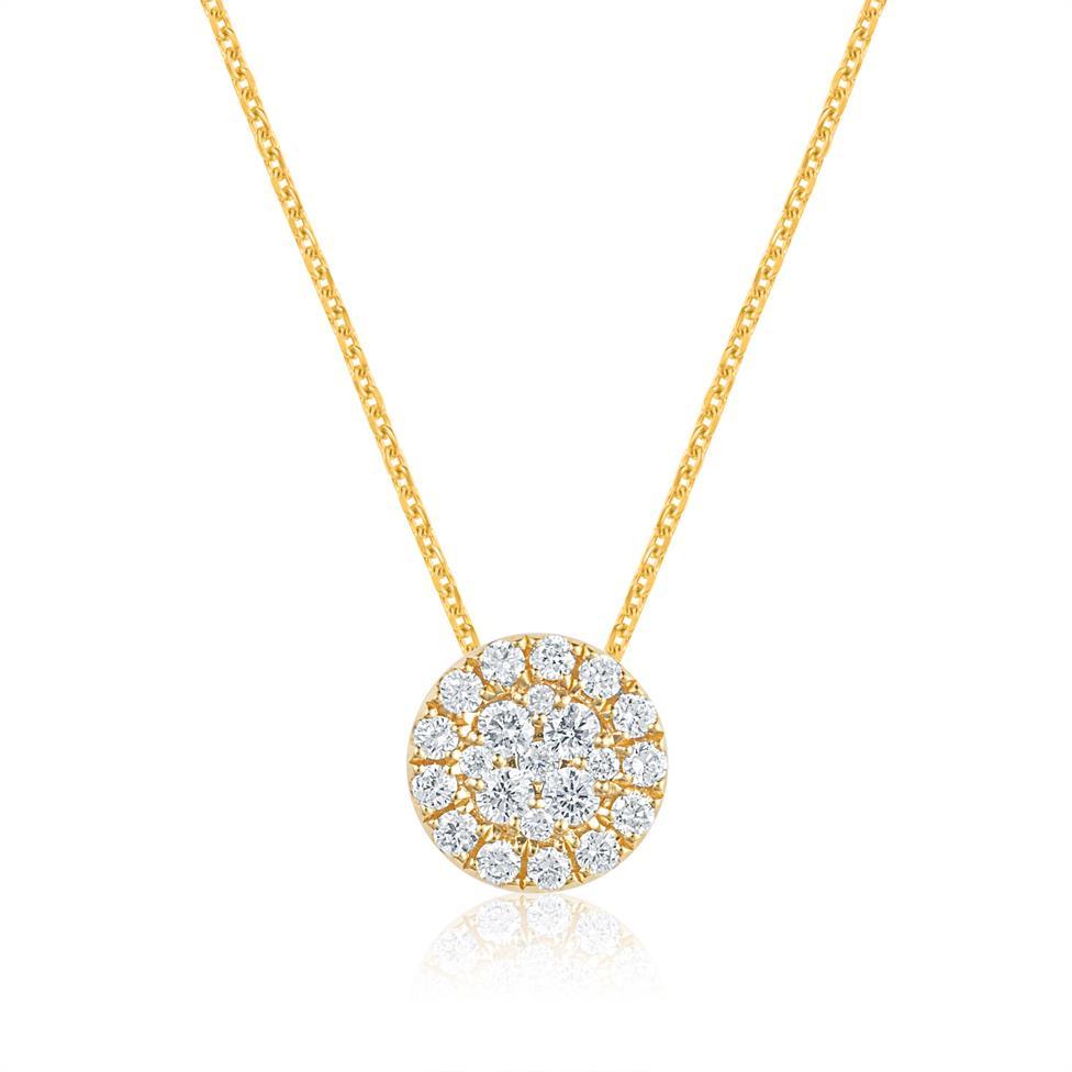 Adore 18ct Yellow Gold Diamond Pendant 0.21ct Thumbnail Image 0