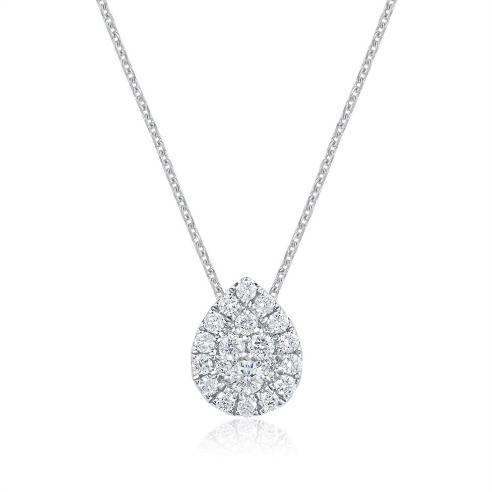 Adore 18ct White Gold Pear Design Diamond Pendant  Thumbnail Image 0