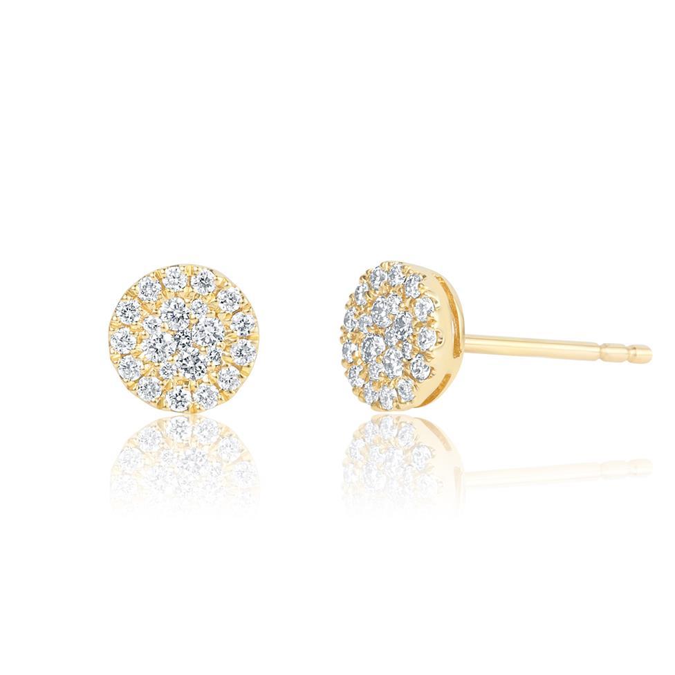 Adore 18ct Yellow Gold Diamond Stud Earrings Thumbnail Image 0