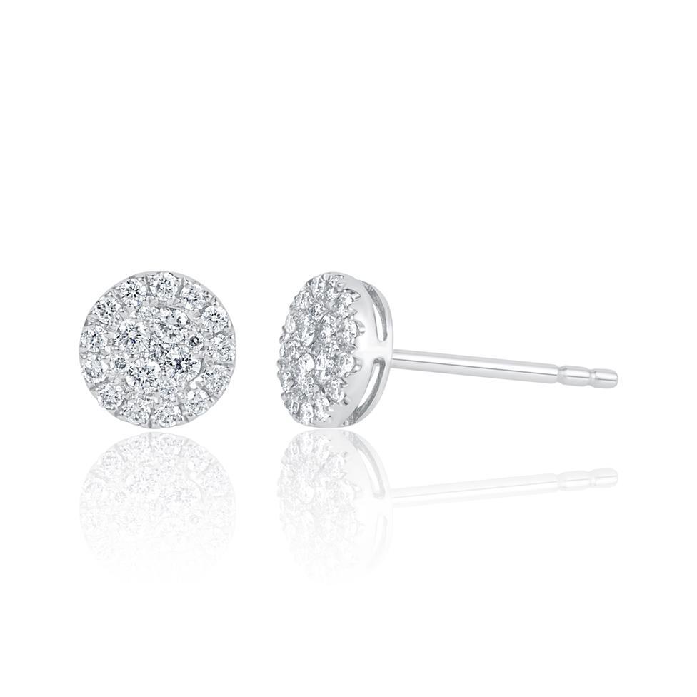 Adore 18ct White Gold Round Design Diamond Stud Earrings 0.29ct Thumbnail Image 0