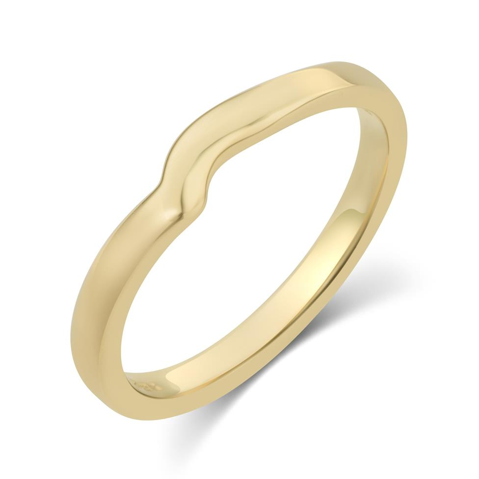 18ct Yellow Gold Shaped Wedding Ring  Thumbnail Image 0