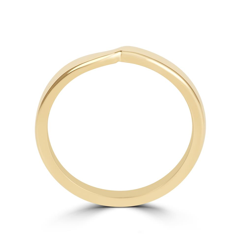 18ct Yellow Gold Shaped Wedding Ring  Thumbnail Image 2