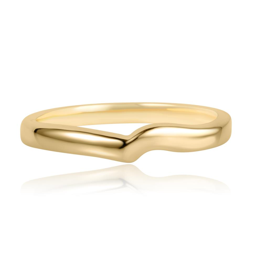 18ct Yellow Gold Shaped Wedding Ring  Thumbnail Image 1