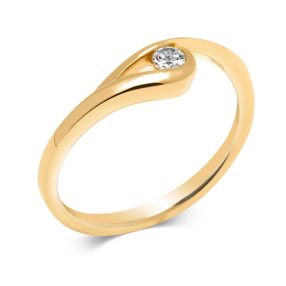 Mon Coeur 18ct Yellow Gold Diamond Dress Ring 0.08ct Thumbnail Image 2