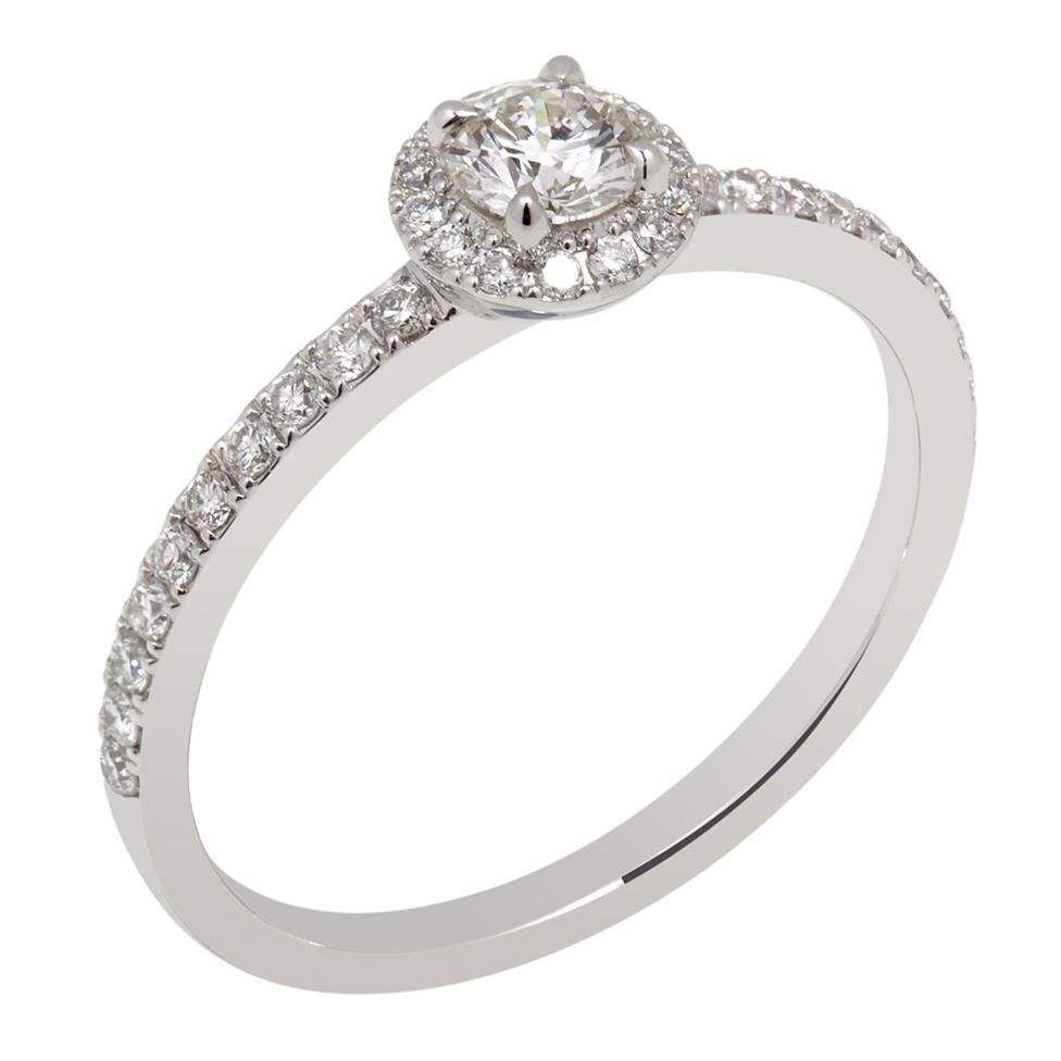 Platinum 0.50ct Diamond Halo Ring Thumbnail Image 0