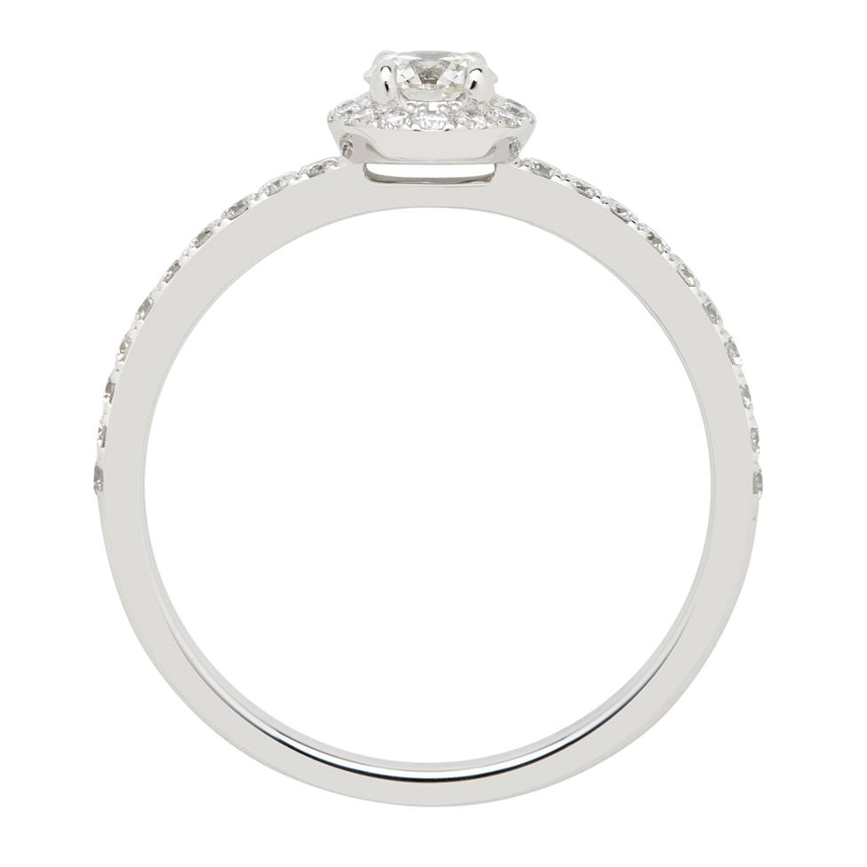 Platinum 0.50ct Diamond Halo Ring Thumbnail Image 1
