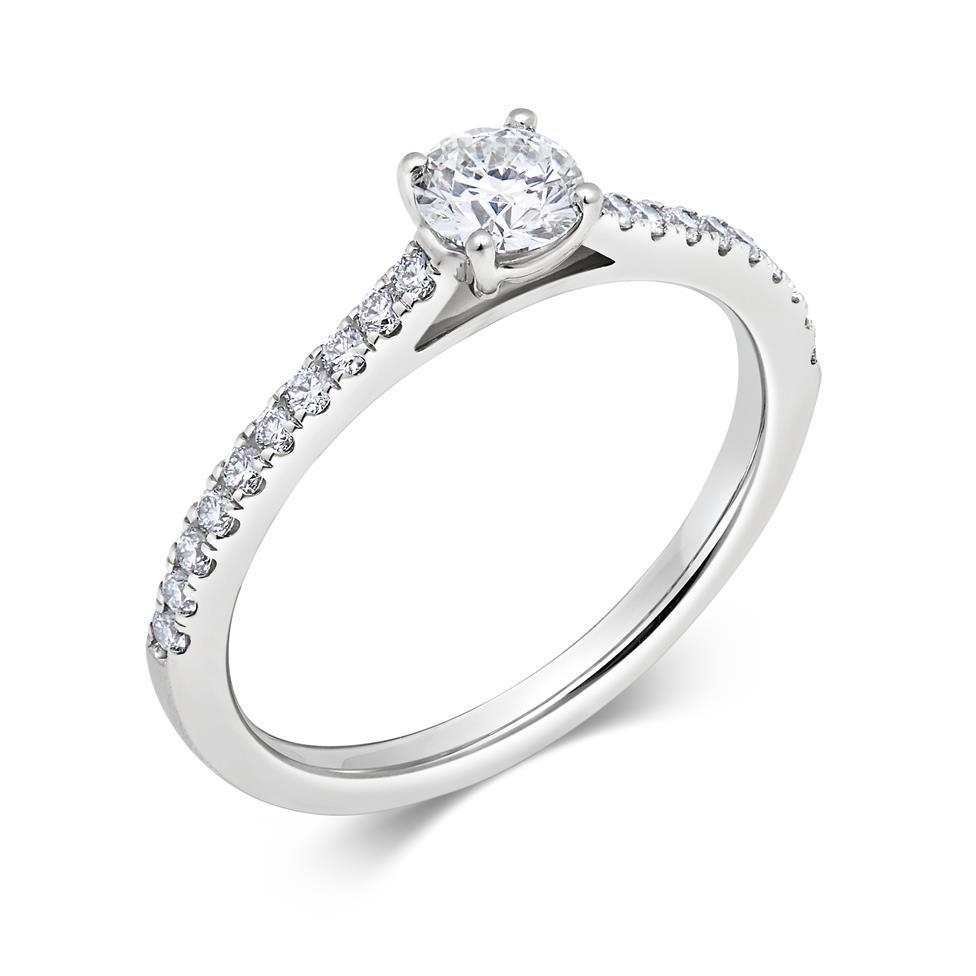 Platinum Diamond Solitaire Engagement Ring 0.53ct Thumbnail Image 0