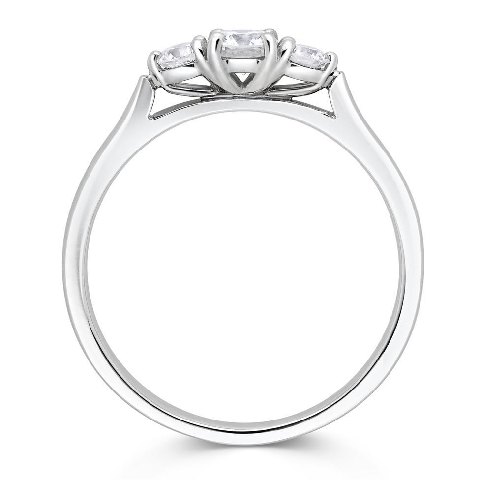 Platinum Diamond Three Stone Engagement Ring 0.33ct Thumbnail Image 2