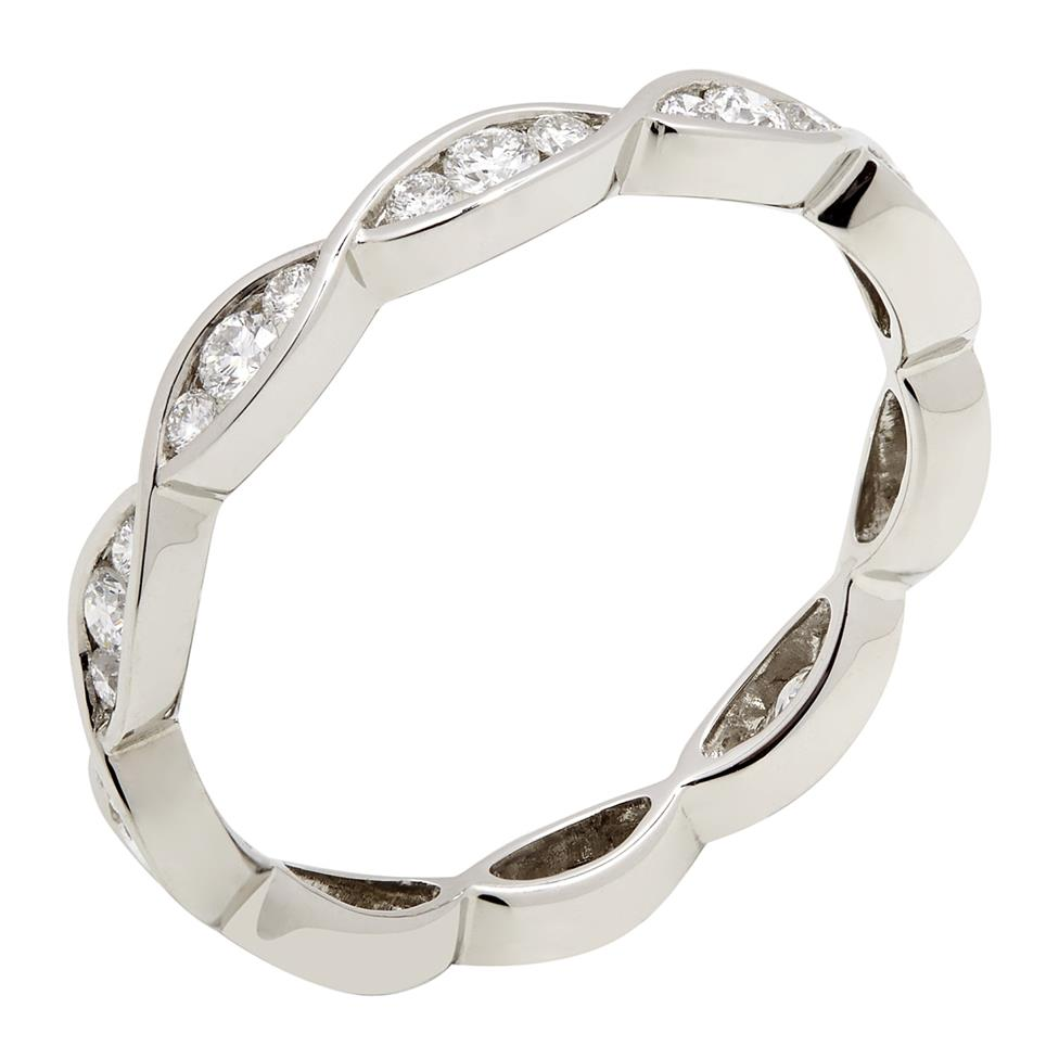 Platinum Plaited Design Diamond Ring Thumbnail Image 0
