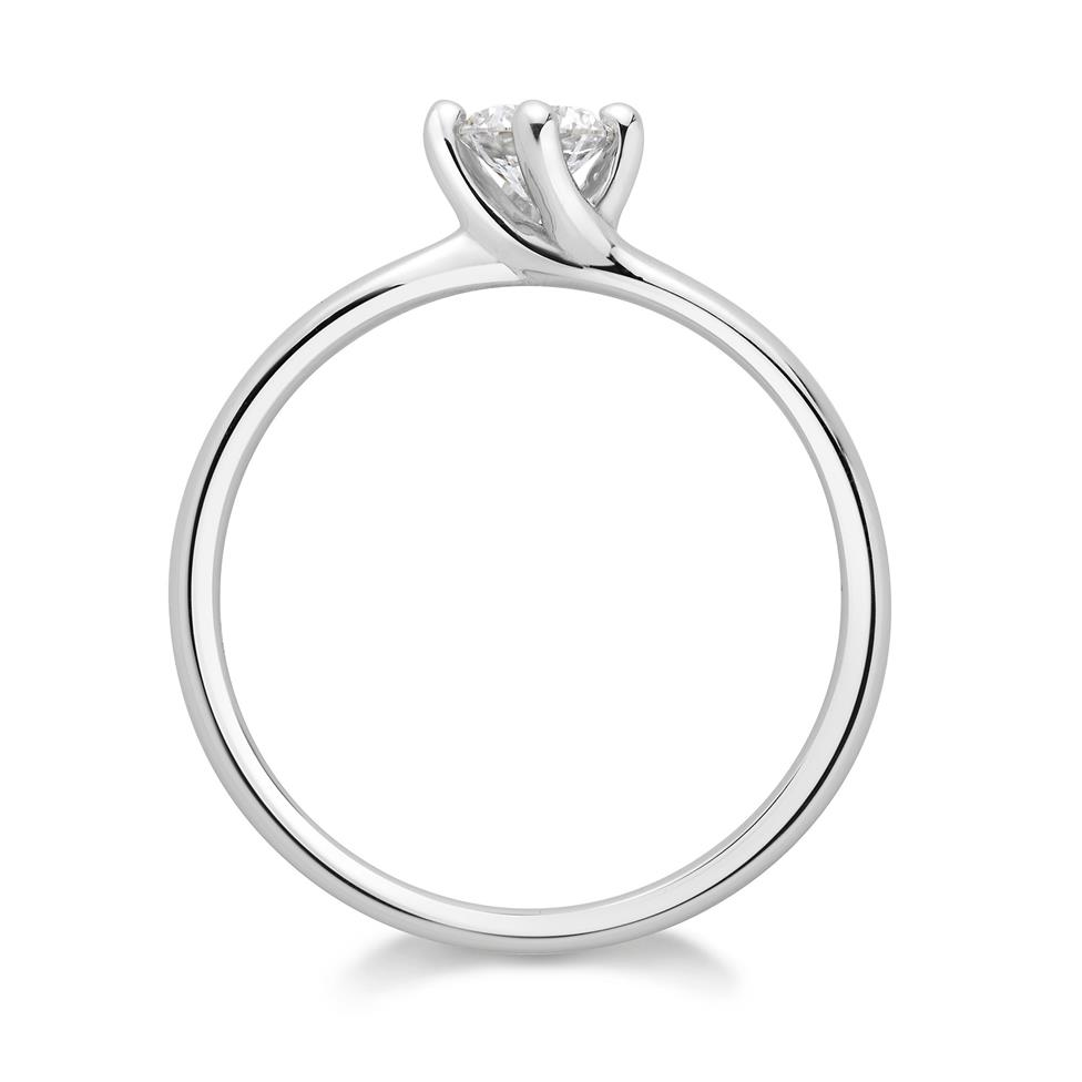 Platinum Twisted Claw Design Solitaire Engagement Ring 0.25ct Thumbnail Image 1