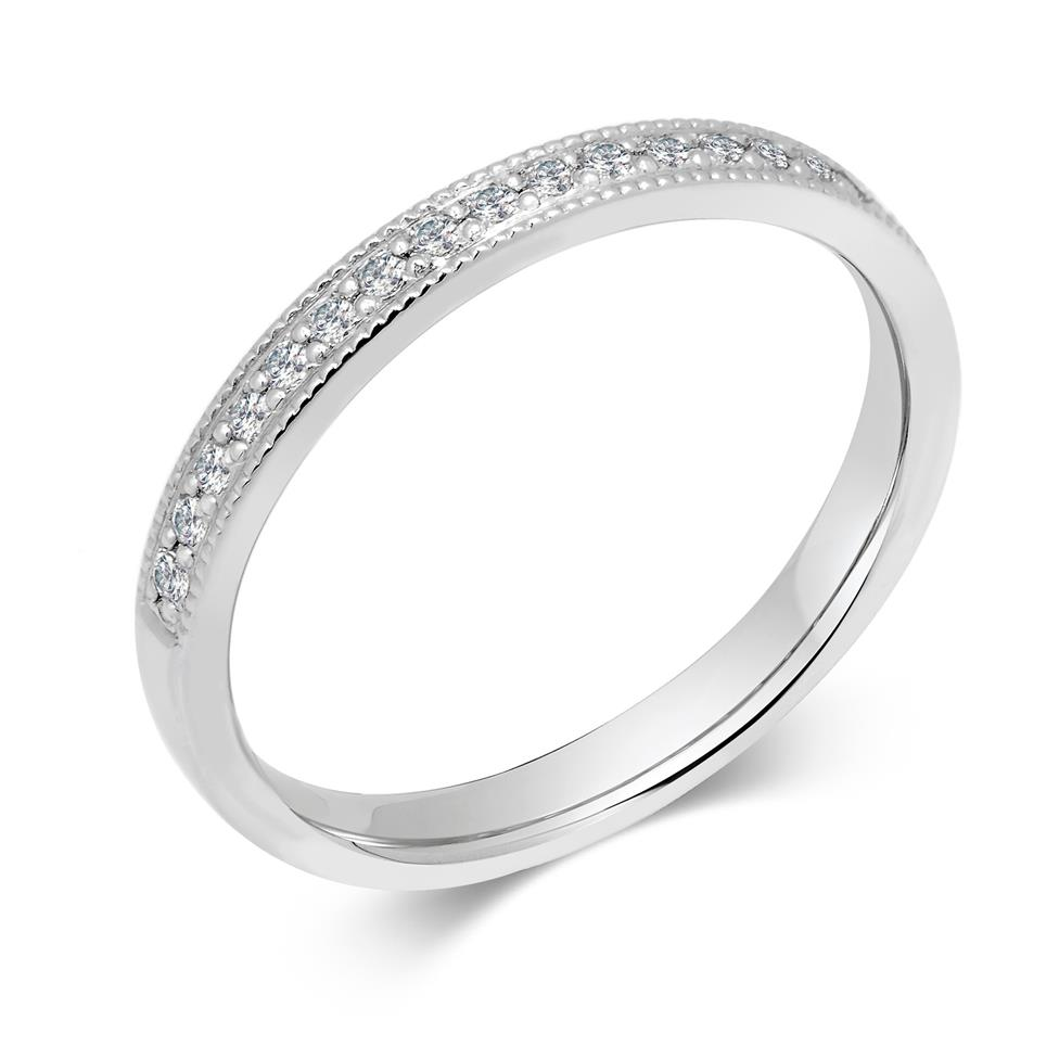 Platinum 0.22ct Diamond Half Channel Ring Thumbnail Image 0