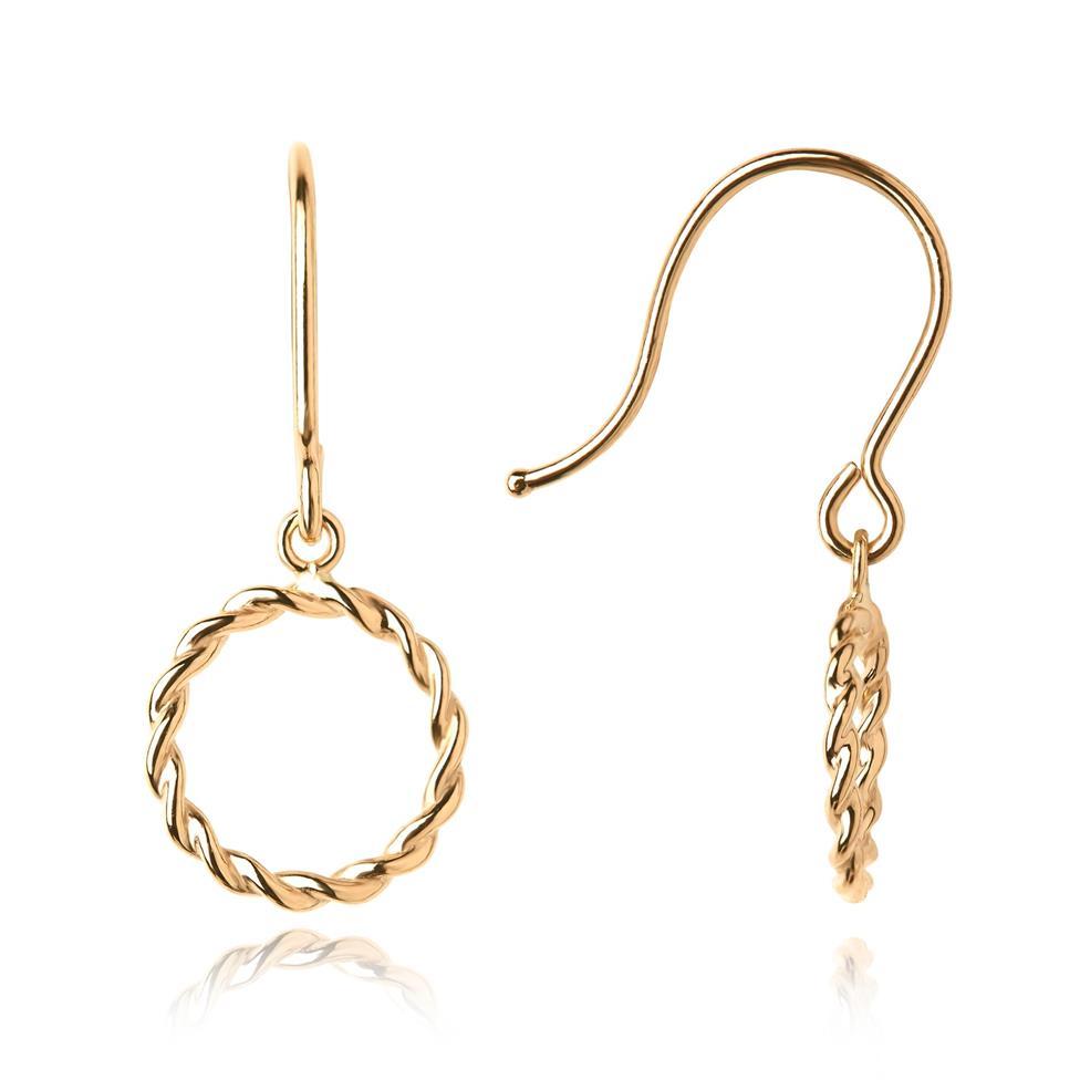 Aura 18ct Yellow Gold Drop Earrings Thumbnail Image 0