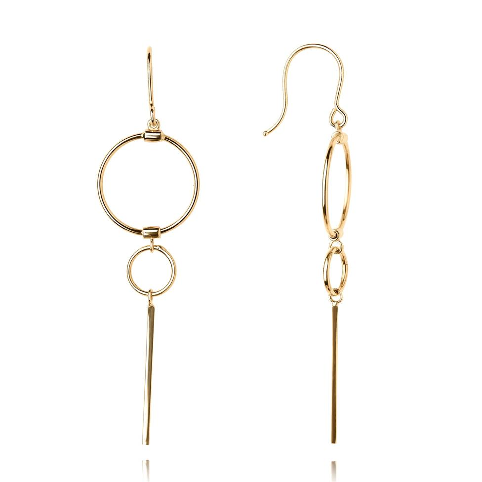 Issa 18ct Yellow Gold Drop Earrings Thumbnail Image 0