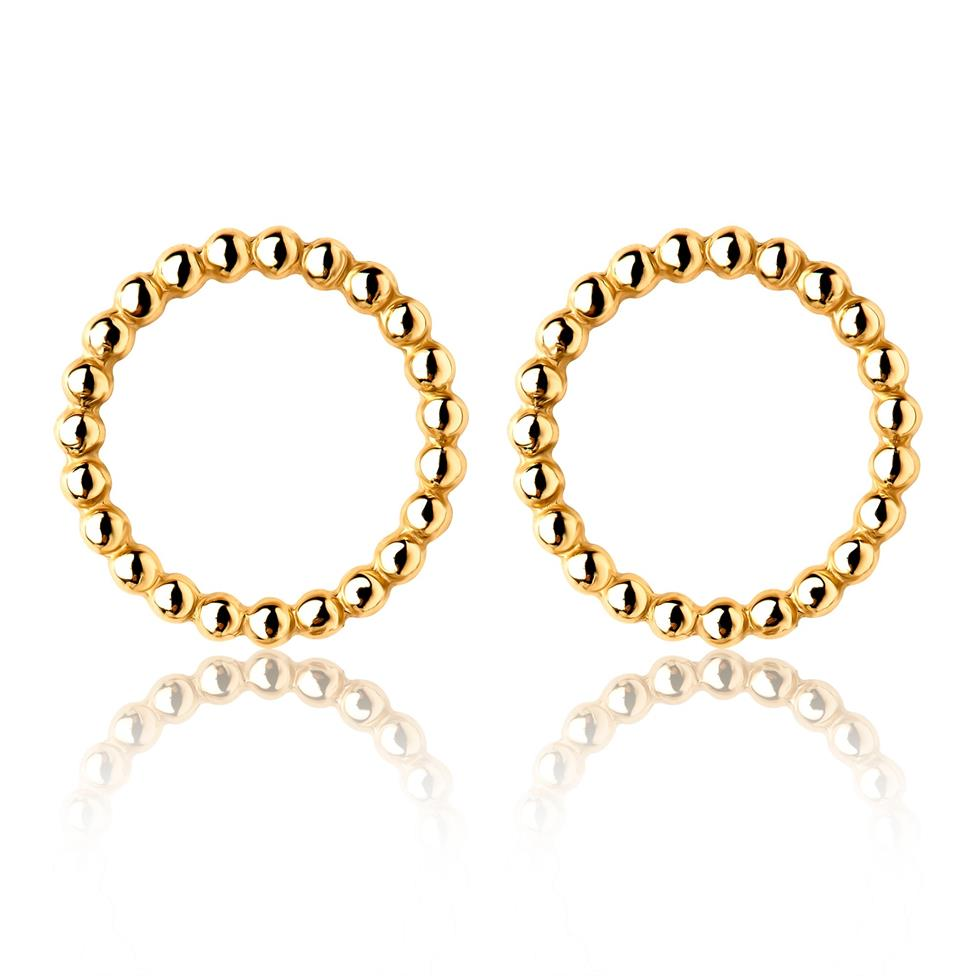 Aura 18ct Yellow Gold Circle Shape Stud Earrings 10.7mm Thumbnail Image 0
