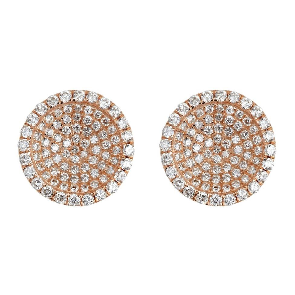 22926a2bfb4b 18ct Rose Gold Eclipse Diamond Pave Stud Earrings