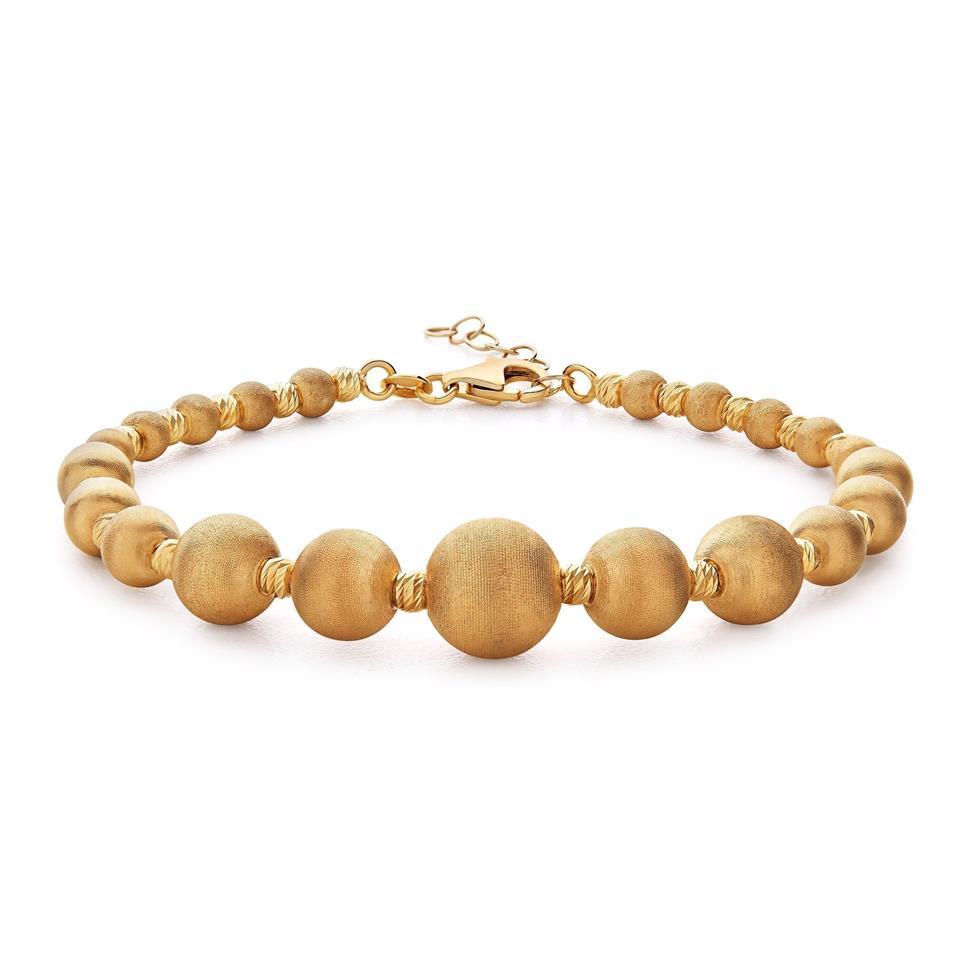 Milano 18ct Yellow Gold Satin Finish Bracelet Thumbnail Image 0