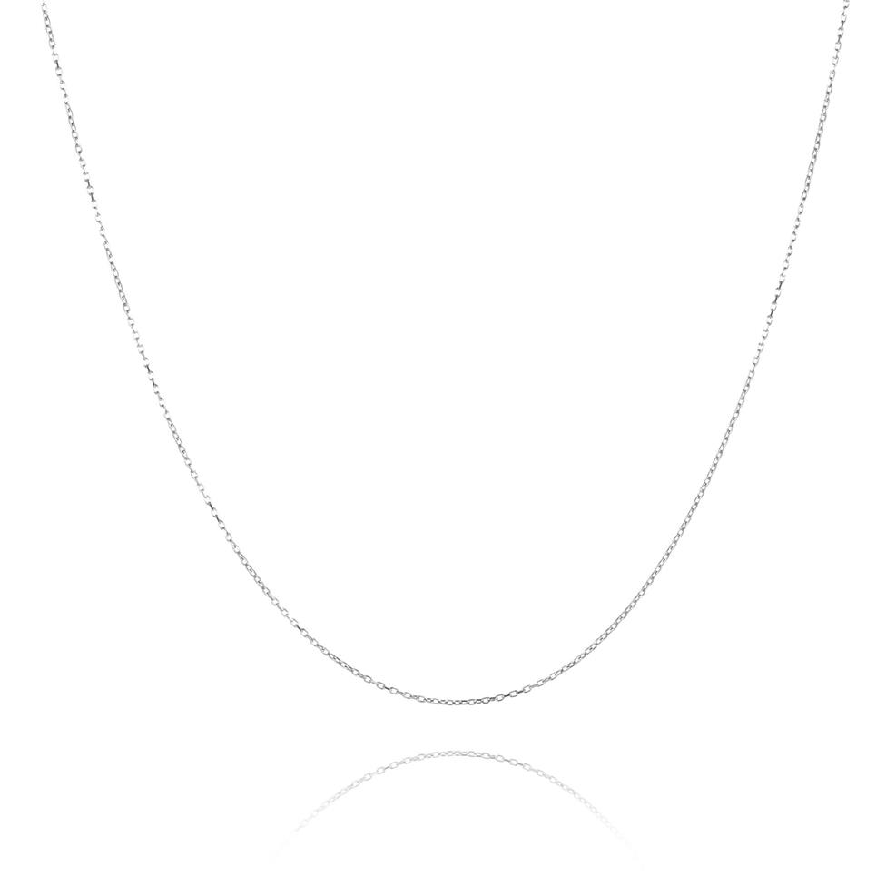 18ct White Gold Trace Chain 40cm Thumbnail Image 0