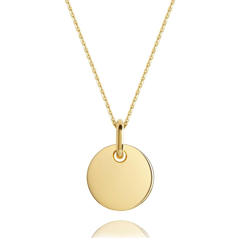 Treasured 18ct Yellow Gold Small Round Pendant Thumbnail Image 0
