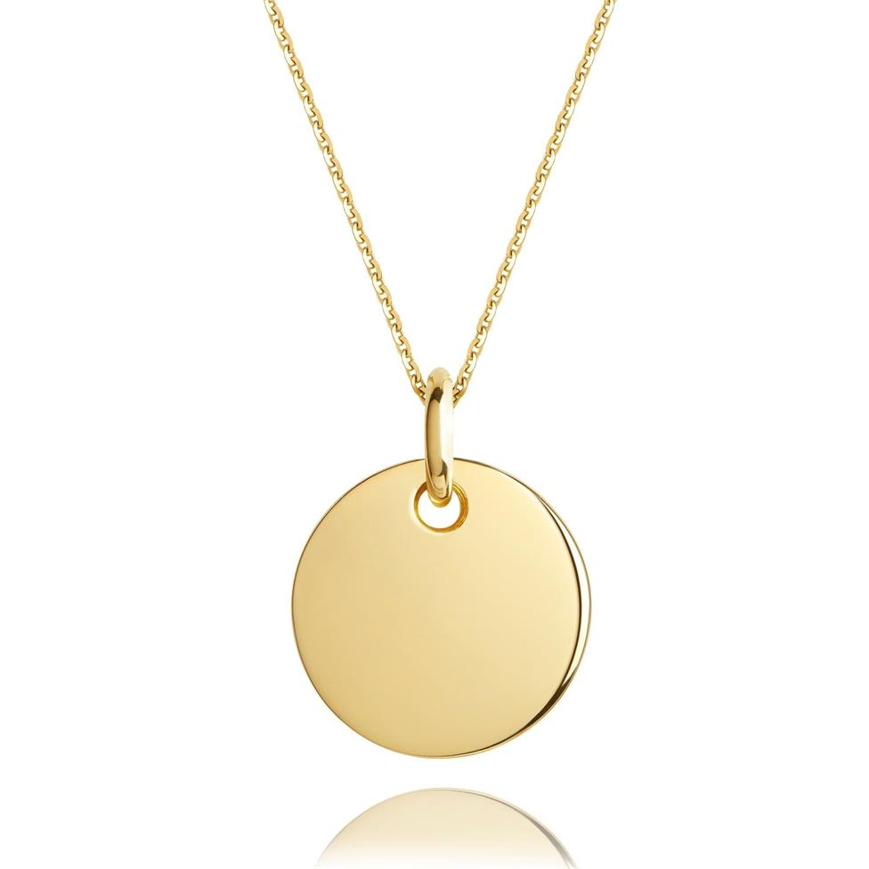 Treasured 18ct Yellow Gold Medium Round Pendant Image 1