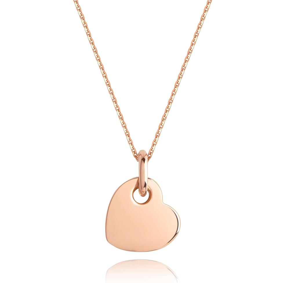Treasured 18ct Rose Gold Heart Pendant Image 1