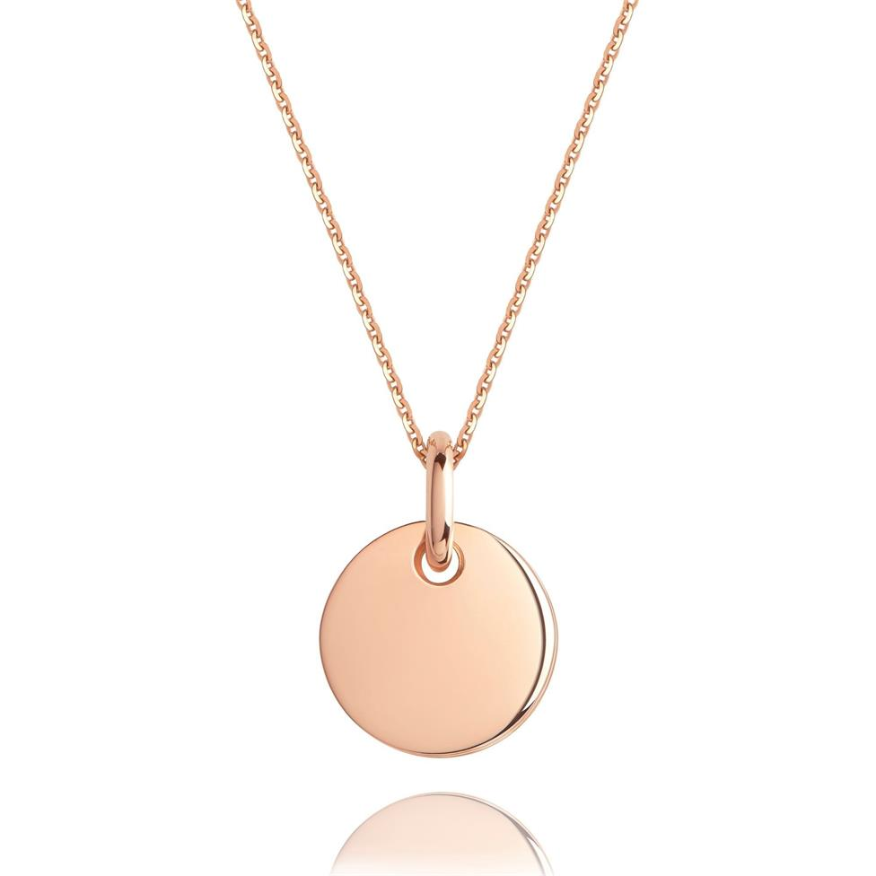 Treasured 18ct Rose Gold Small Round Pendant Image 1