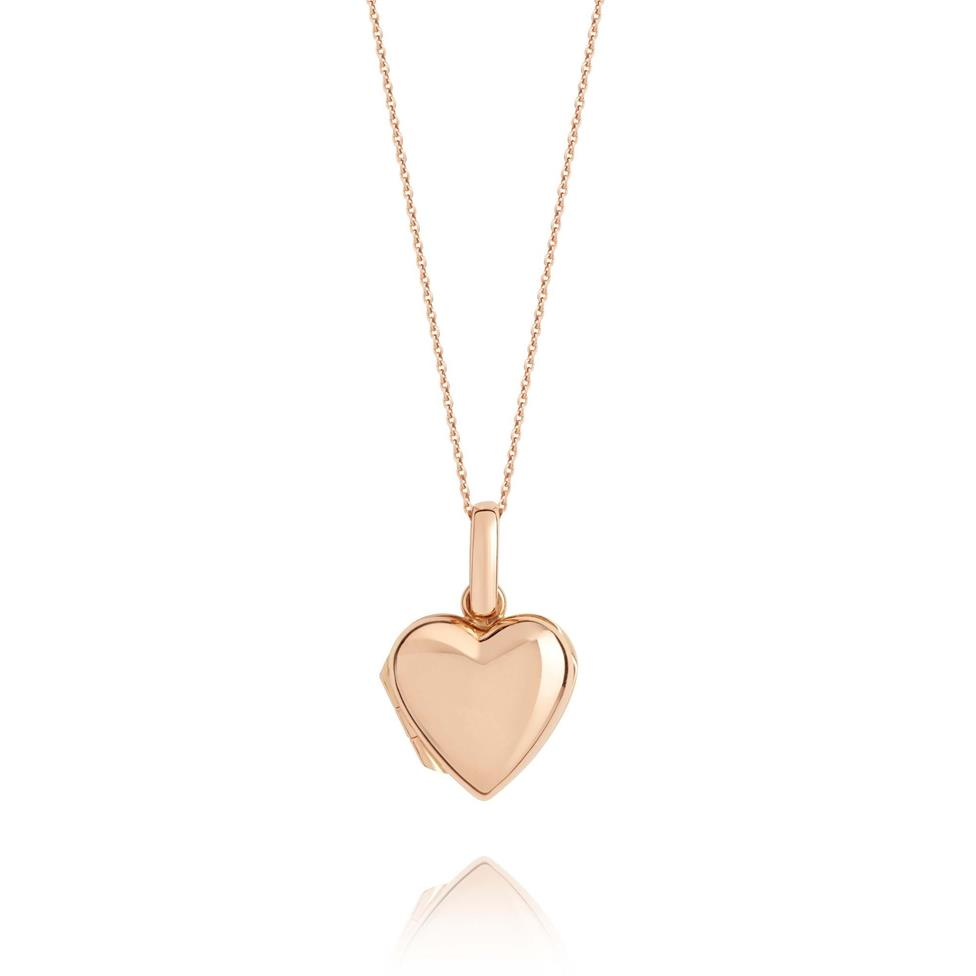 18ct Rose Gold Heart Locket Thumbnail Image 0