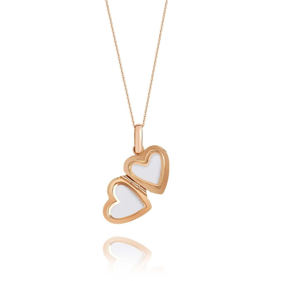 18ct Rose Gold Heart Locket Thumbnail Image 1