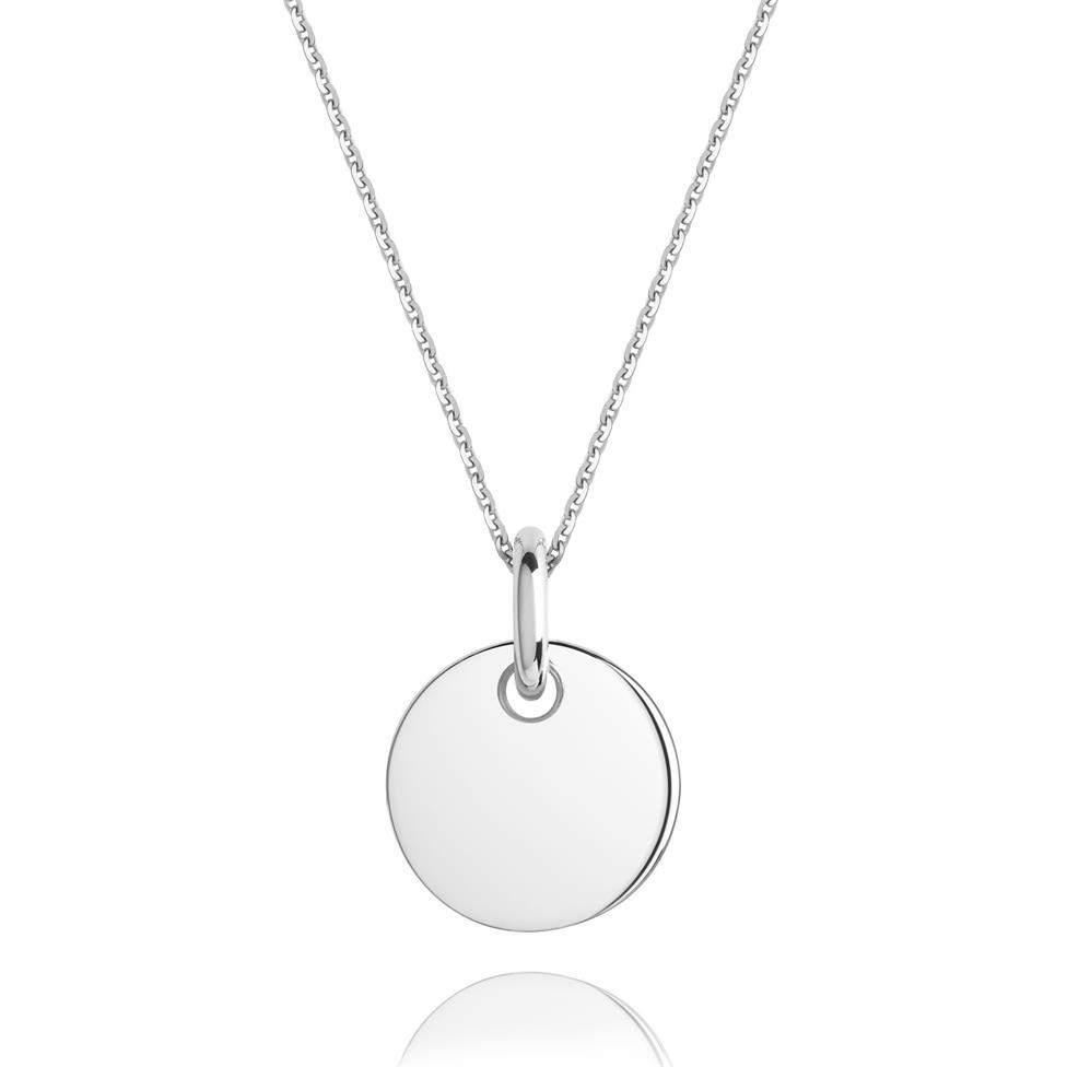 Treasured 18ct White Gold Small Round Pendant Image 1