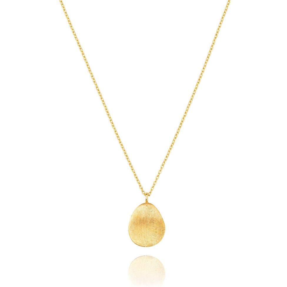 Cadence 18ct Yellow Gold Satin Finish Necklace - Small Thumbnail Image 0