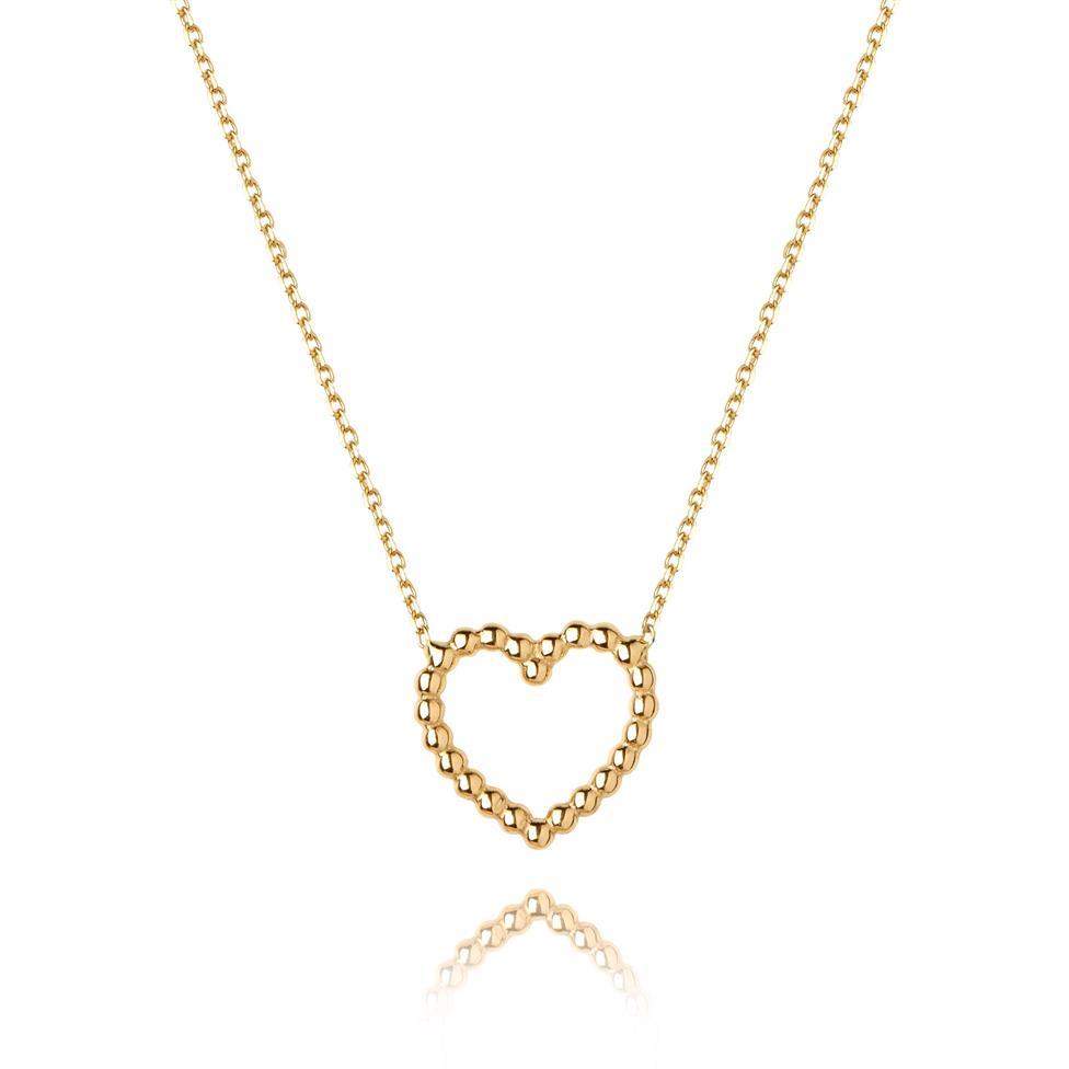 Aura 18ct Yellow Gold Heart Design Necklace Thumbnail Image 0