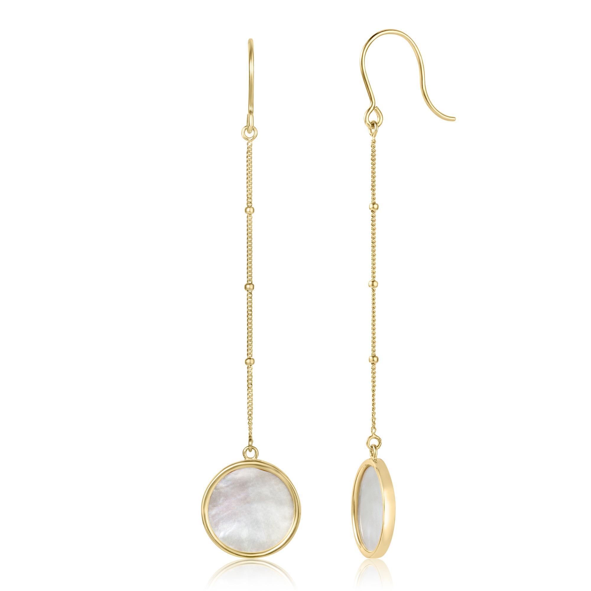 Nova Mother of Pearl Drop Earrings   Pravins