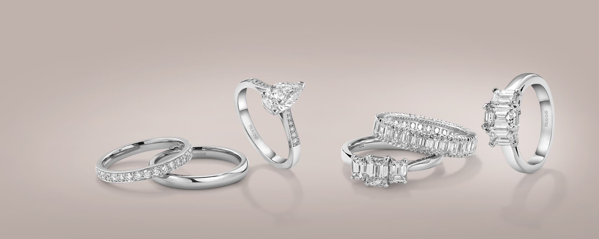 ENGAGEMENT RINGS FROM PRAVINS, DIAMOND EXPERTS SINCE 1969.